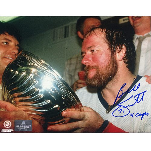 Billy Smith Stanley Cup 8x10 Photo Signed 4 Cups Note-New York Islanders