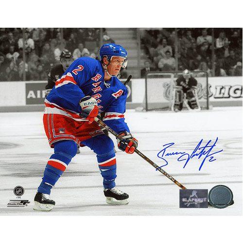 Brian Leetch Signed Photo-New York Rangers Spotlight 8x10 Photo