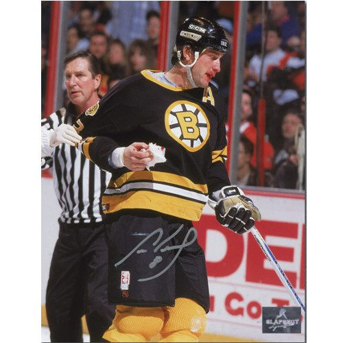 Cam Neely Autographed Boston Bruins Bloddy 8x10 Photo
