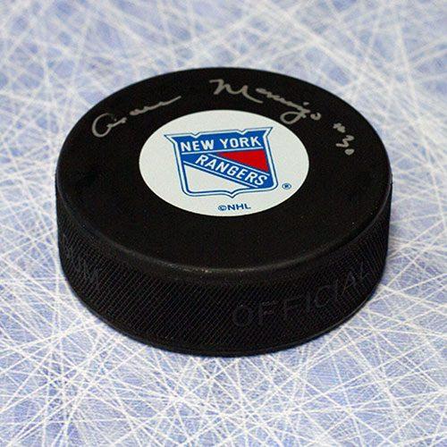 Cesare Maniago New York Rangers Autographed Hockey Puck