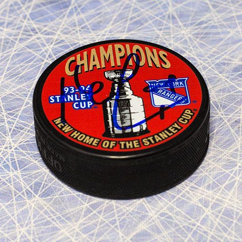 Kevin Lowe Stanley Cup 1994 New York Rangers Autographed Puck