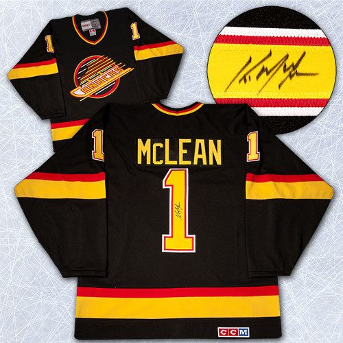 Kirk McLean Signed Jersey-Vancouver Canucks Retro CCM Hockey Jersey