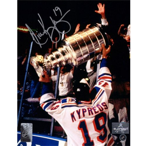 Nick Kypreos Stanley Cup 1994 New York Rangers Autographed 8x10 Photo