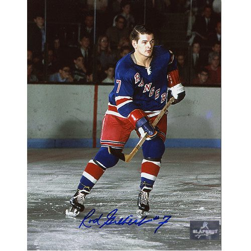 a45119eab Rod Gilbert New York Rangers Autographed Original Six Action 8x10 Photo