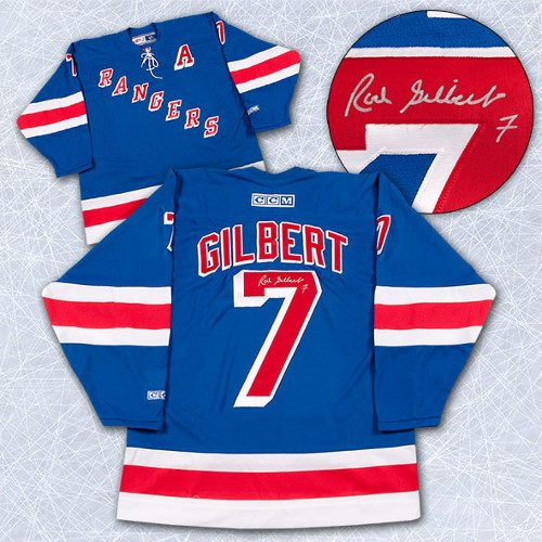Rod Gilbert New York Rangers Jersey-Signed Retro CCM Vintage Jersey