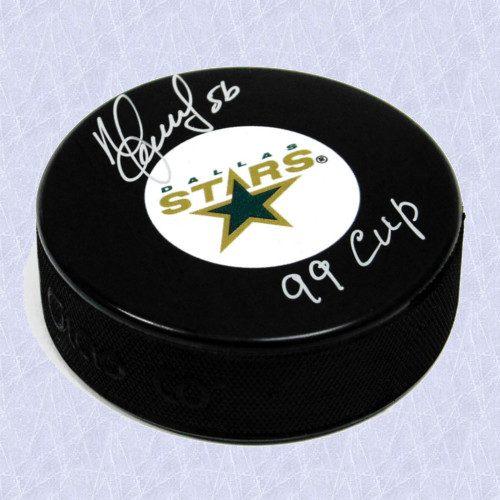 Sergei Zubov Signed Puck 99 Cup Note-Dallas Stars