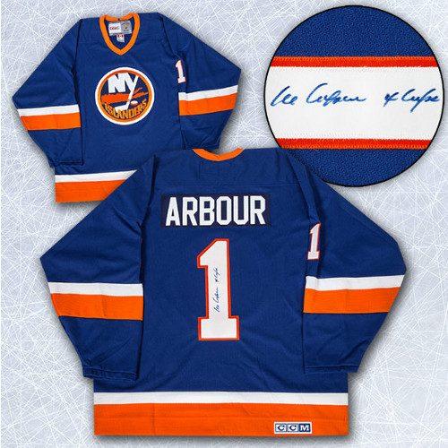 Al Arbour Autographed Jersey New York Islanders Retro CCM Jersey