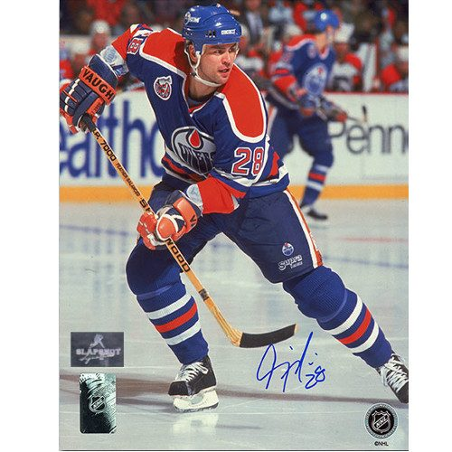 Craig Muni Edmonton Oilers Autographed Hockey 8x10 Photo