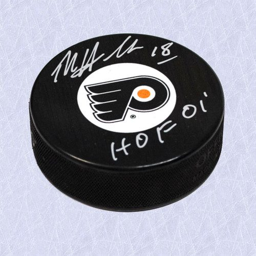 Dale Hawerchuk Flyers Autographed Hockey Puck w/ HOF Note
