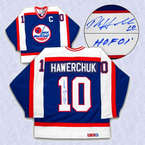 Dale Hawerchuk Signed Jersey-Winnipeg Jets Rookie Retro CCM Jersey