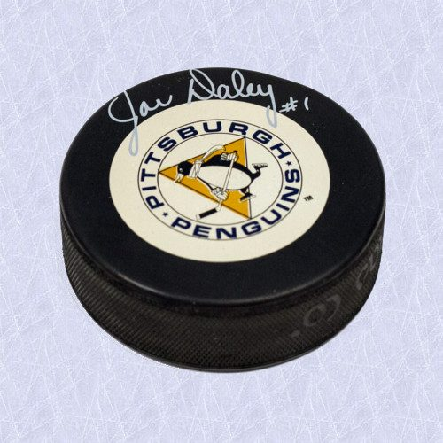 Joe Daley Pittsburgh Penguins Autographed Hockey Puck