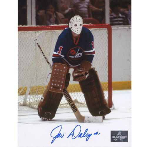 Joe Daley WHA Goalie-Winnipeg Jets Autographed Classic 8x10 Photo