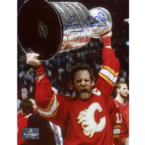 Lanny McDonald Stanley Cup 1989 Calgary Flames Signed 8x10 Photo