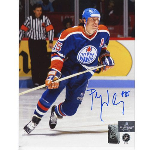 Petr Klima Edmonton Oilers Autographed Hockey Action 8x10 Photo