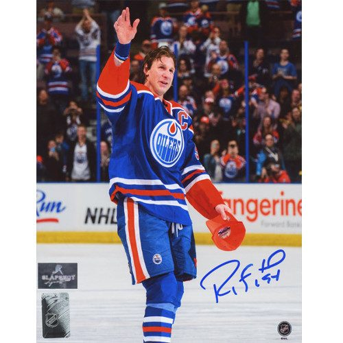 Ryan Smyth Autographed Photo-Edmonton Oilers Final Game Wave 8x10 Photo