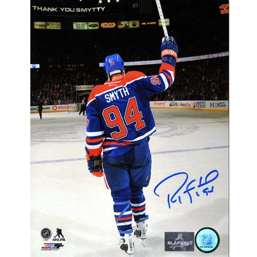 Ryan Smyth Final Farewell Salute Signed Photo-Edmonton Oilers Last Game 8x10
