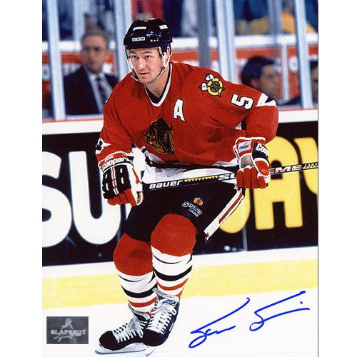 Steve Smith Chicago Blackhawks Autographed Skating 8x10 Photo