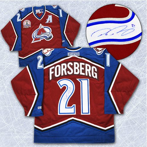 Peter Forsberg Signed Jersey-Colorado Avalanche 2001 Stanley Cup Retro CCM Jersey
