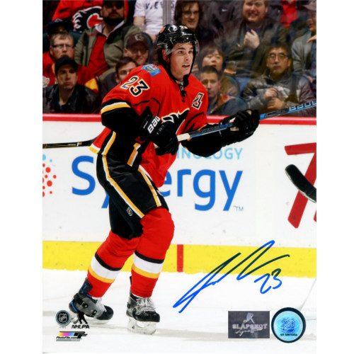 Sean Monahan Autographed Photo-Calgary Flames Hockey 8x10 Photo