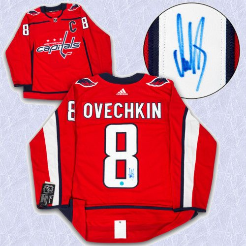 Alex Ovechkin Adidas Jersey Autographed Authentic-Washington Capitals