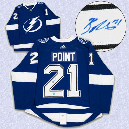 Brayden Point Adidas Jersey Autographed Authentic-Tampa Bay Lightning