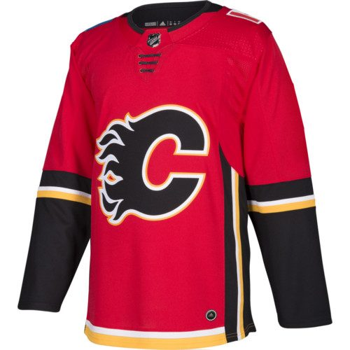 Calgary Flames Adidas Jersey Authentic Home NHL Hockey Jersey