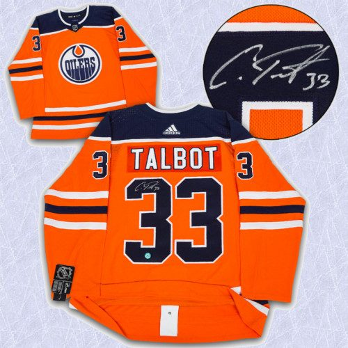 Cam Talbot Adidas Jersey Autographed Authentic-Edmonton Oilers