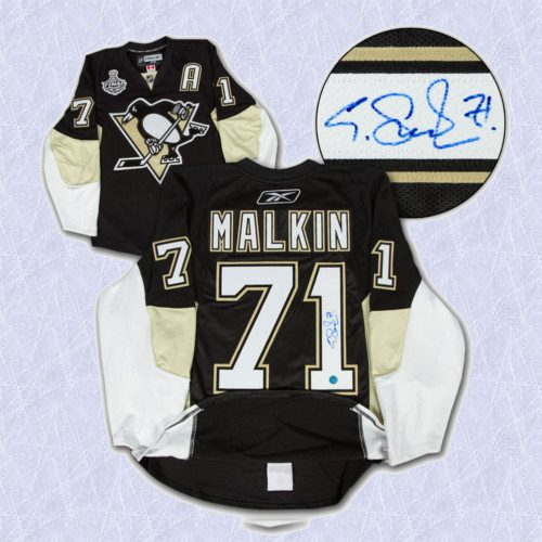 Evgeni Malkin Signed Jersey Pittsburgh Penguins 2009 Stanley Cup