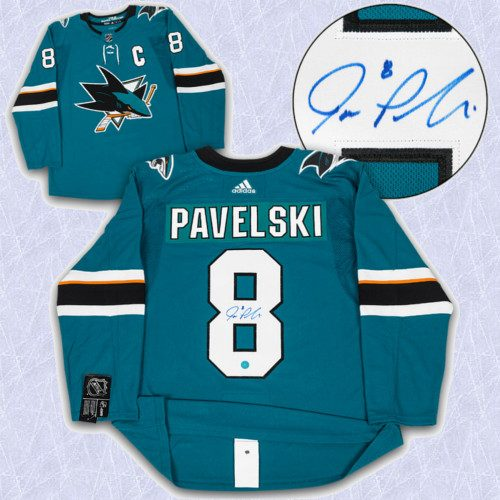 Joe Pavelski Adidas Jersey Autographed Authentic-San Jose Sharks
