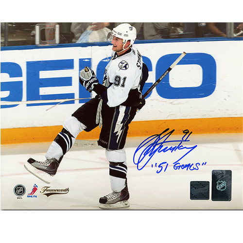 424e96e7c Steven Stamkos Tampa Bay Lightning Autographed 8x10 Photo with 51 Goals Note