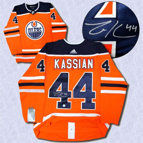 Zack Kassian Adidas Jersey Autographed Authentic-Edmonton Oilers