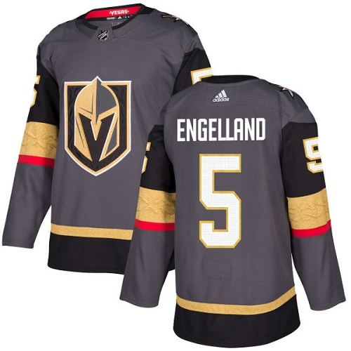 competitive price d11fc f7a46 Details about Deryk Engelland Vegas Golden Knights Adidas Home NHL Hockey  Jersey Size 54