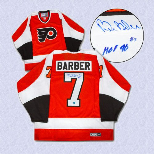Bill Barber Autographed Jersey Philadelphia Flyers Stanley Cup Retro CCM