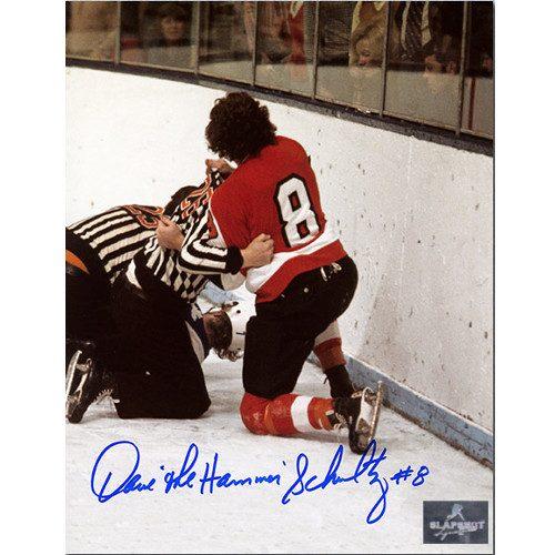 Dave Schultz Philadelphia Flyers Autographed Fight Champ 8x10 Photo