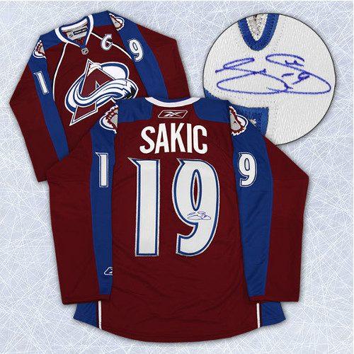Joe Sakic Autographed Jersey Colorado Avalanche Reebok Premier Hockey Jersey