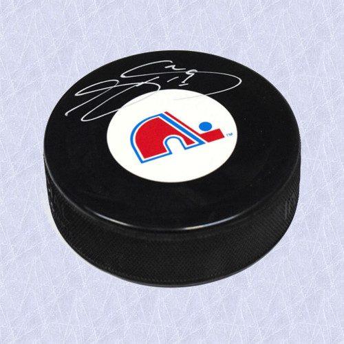 Joe Sakic Quebec Nordiques Autographed Hockey Puck