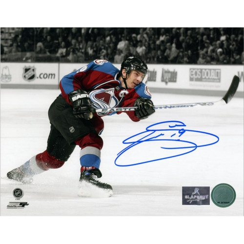 Joe Sakic Signed Colorado Avalanche Sniper Spotlight 8x10 Photo