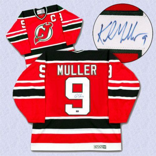 Kirk Muller New Jersey Devils Autographed Retro CCM Hockey Jersey