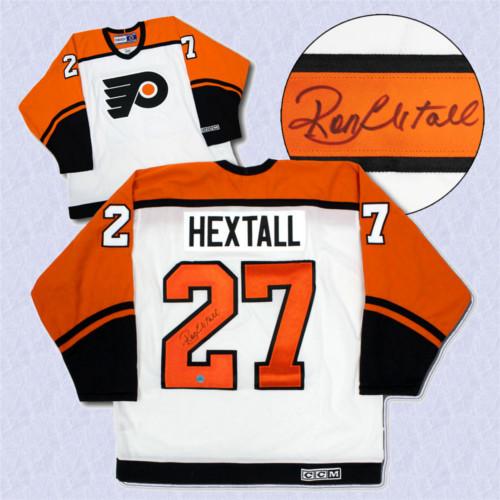 Ron Hextall Philadelphia Flyers Autographed Retro White CCM Hockey Jersey 2a1b9c89a