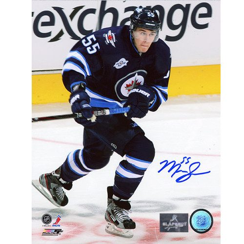 Mark Scheifele Winnipeg Jets Autographed 1st NHL Game 8x10 Photo