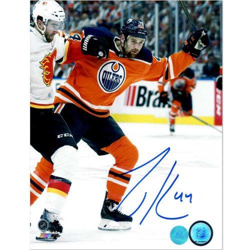 Zack Kassian Edmonton Oilers Autographed BattleOf Alberta 8x10 Photo