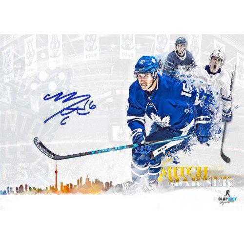 Mitch Marner Signed Toronto Maple Leafs Skyline 11x17 Photo